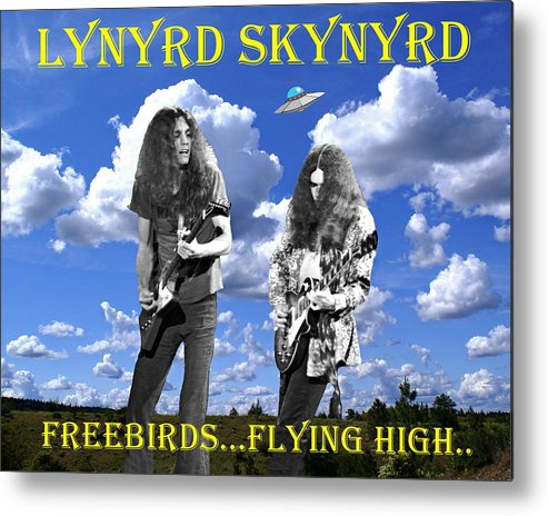 Enhanced Photographs Metal Print featuring the photograph Freebirds Flying High by Ben Upham