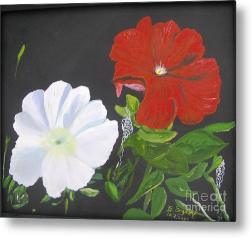 Flowers Metal Print featuring the painting From Grandmother's Garden by Betty and Kathy Engdorf and Bosarge