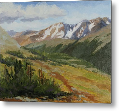 Rocky Mountain National Park Metal Print featuring the painting From The Top by Julia Grundmeier