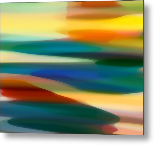 Fury Metal Print featuring the painting Fury Seascape 4 by Amy Vangsgard