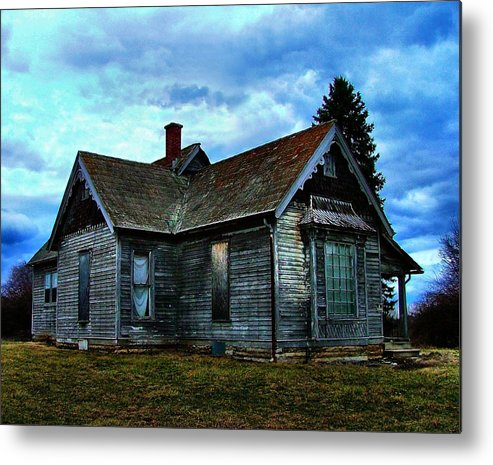 Old Abandoned Metal Print featuring the photograph Glory Days Gone By by Julie Dant