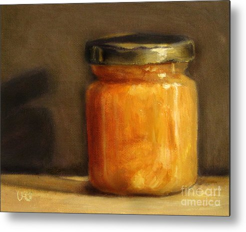 Honey Metal Print featuring the painting Heather Honey 1 by Ulrike Miesen-Schuermann