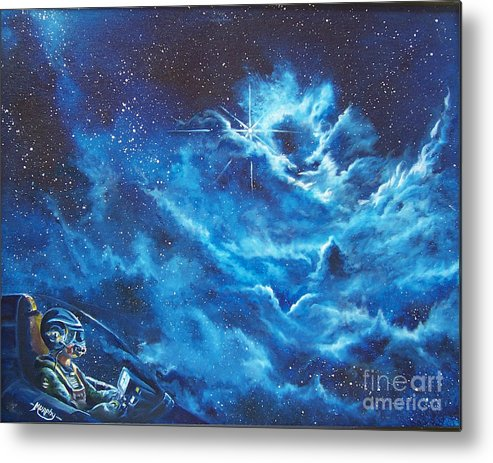 Astro Metal Print featuring the painting Heavens Gate by Murphy Elliott
