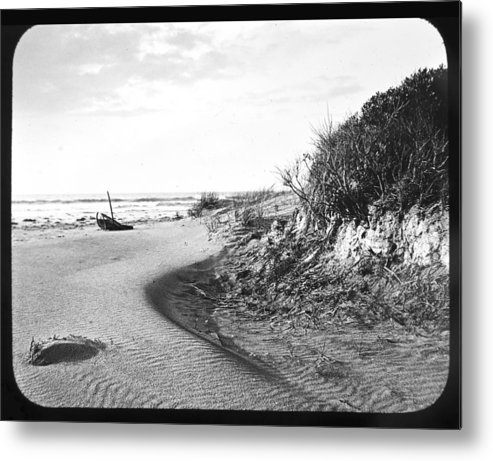 Toned Color Metal Print featuring the photograph Holly Beach Now Wildwood New Jersey 1907 Vintage Photograph by A Gurmankin