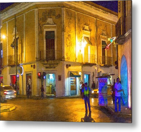 Merida Metal Print featuring the photograph Hot Nights In The Yucatan by Mark E Tisdale