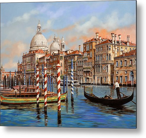Venice Metal Print featuring the painting Il Canal Grande by Guido Borelli