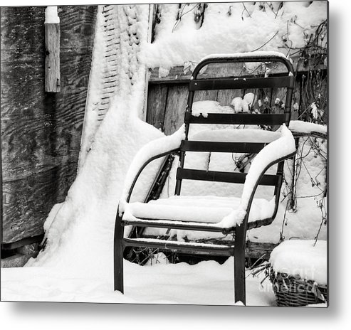 Winter Metal Print featuring the photograph In The Cold Seat by Jay Ressler