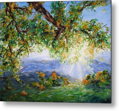 Landscape Metal Print featuring the painting Indian Summer by Thomas Restifo