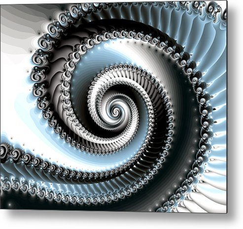 Fractal Metal Print featuring the photograph Intervolve by Kevin Trow