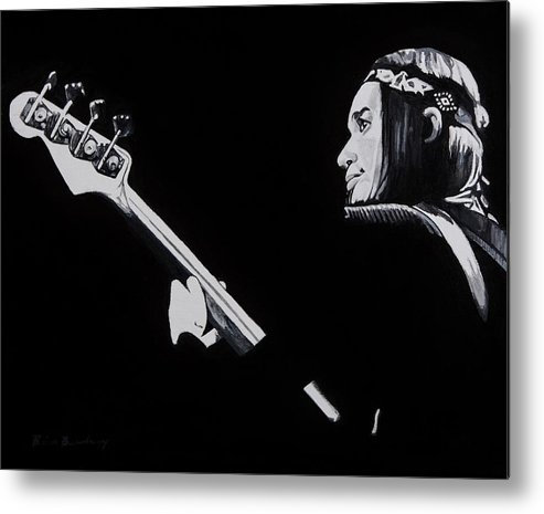 Jaco Metal Print featuring the painting Jaco by Brian Broadway