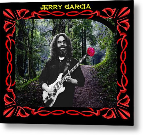 Jerry Garcia Metal Print featuring the photograph Jerry Road Rose 3 by Ben Upham