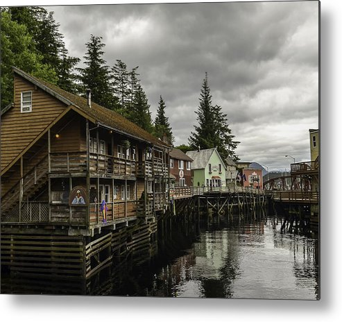 Water Metal Print featuring the photograph Ketchikan Waterfron by Laurence Levine