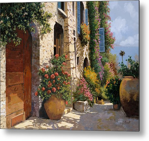 Street Scene Metal Print featuring the painting La Bella Strada by Guido Borelli