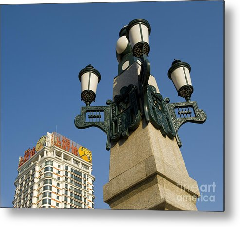 Asia Metal Print featuring the photograph Lamp Post, China by John Shaw