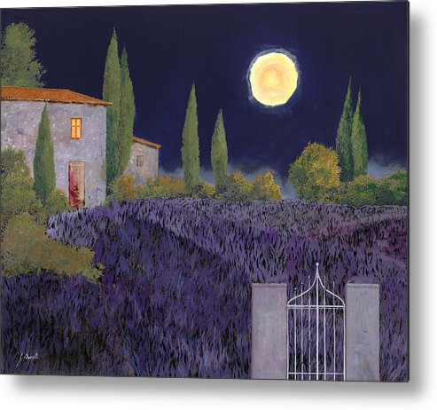 Tuscany Metal Print featuring the painting Lavanda Di Notte by Guido Borelli
