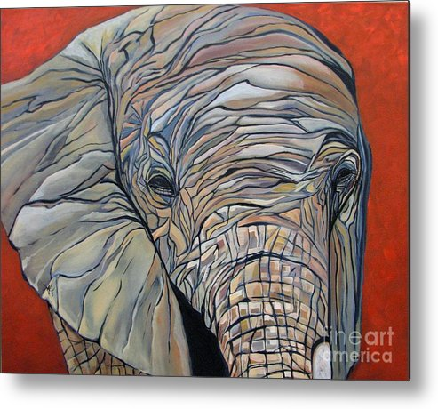 Elephant Metal Print featuring the painting Lazy Boy by Aimee Vance