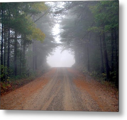 Dirt Road Metal Print featuring the photograph Light At The End Of The Road by Theron Clore