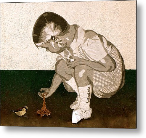 Little Girl Metal Print featuring the photograph Little Girl by Phoebe Quek