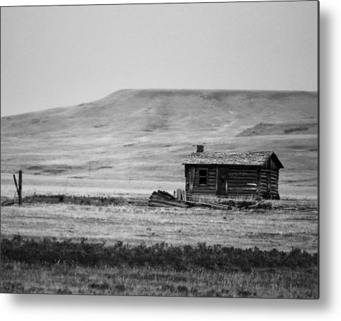 Cabin Metal Print featuring the photograph Little House On The Prairie by Whispering Peaks Photography