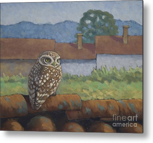 Birds Metal Print featuring the painting Little Owl by Nikolai Kraneis