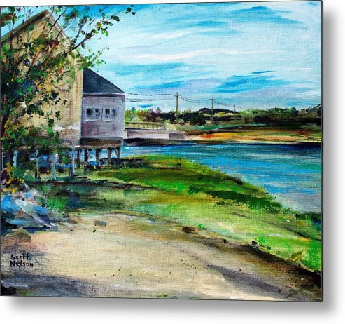Billy's Cowder House Metal Print featuring the painting Maine Chowder House by Scott Nelson