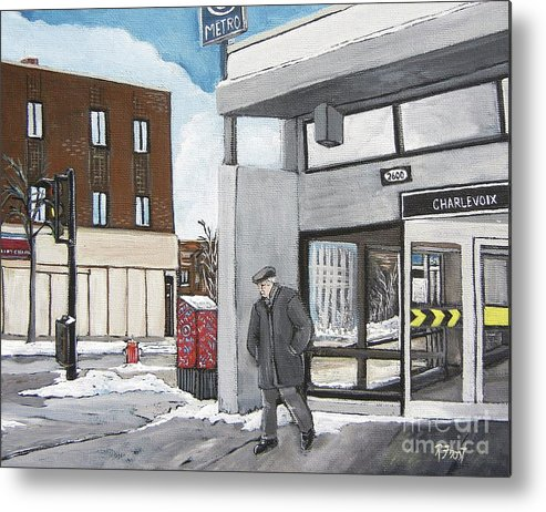 Pointe St. Charles Metal Print featuring the painting Metro Charlevoix Pointe St. Charles by Reb Frost