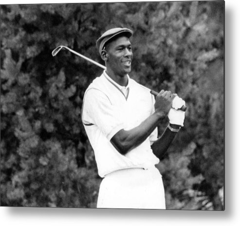 Classic Metal Print featuring the photograph Michael Jordan Playing Golf by Retro Images Archive
