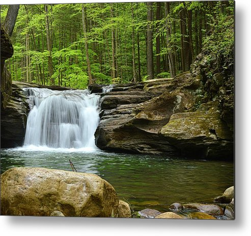 Mill Creek Falls Metal Print featuring the photograph Mill Creek Falls #1 by Joel E Blyler