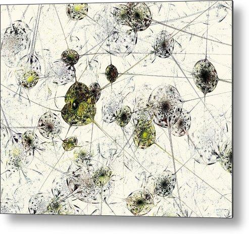 Malakhova Metal Print featuring the digital art Neural Network by Anastasiya Malakhova