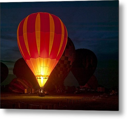 Fineart Metal Print featuring the photograph Night Glow by Jeff Burton