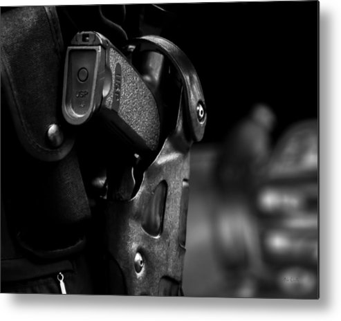 Police Metal Print featuring the photograph Night Traffic Stop Two by Bob Orsillo