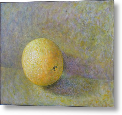 Still Life Metal Print featuring the painting Orange 4 by Raul Vargas