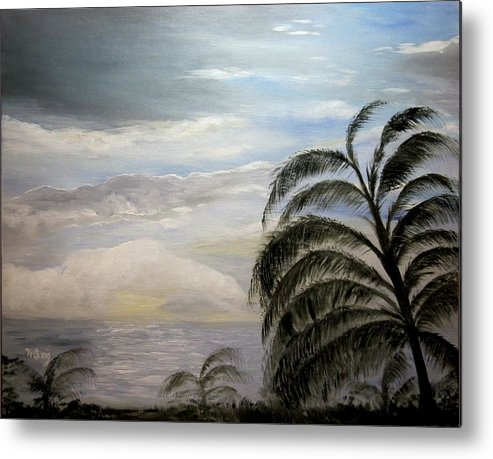 Oil Metal Print featuring the painting Paradise Sky by Nancy Craig