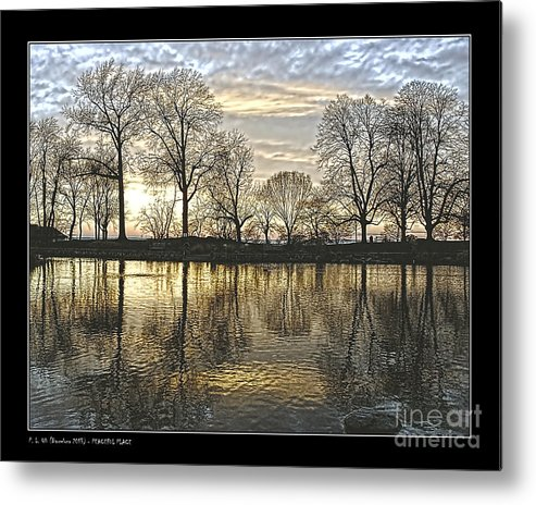 Reflection Metal Print featuring the photograph Peaceful Place by Pedro L Gili