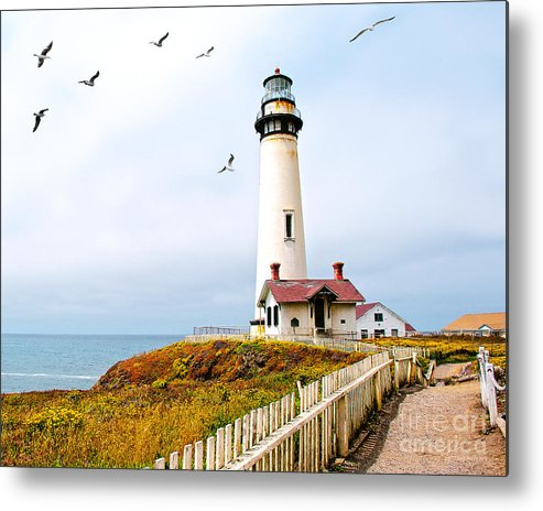 Pigeon Point Lighthouse Metal Print featuring the photograph Pigeon Point Lighthouse by Artist and Photographer Laura Wrede
