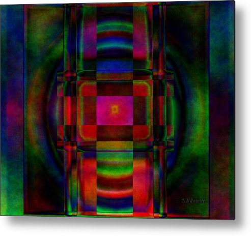 Abstract Metal Print featuring the digital art Pillars Of Time by Diane Parnell