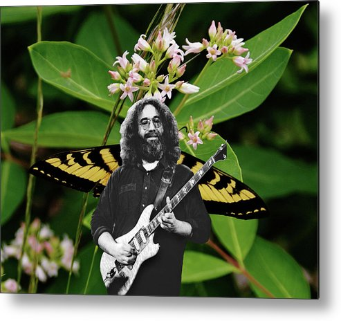 Jerry Garcia Metal Print featuring the photograph Playing Notes With Wings by Ben Upham