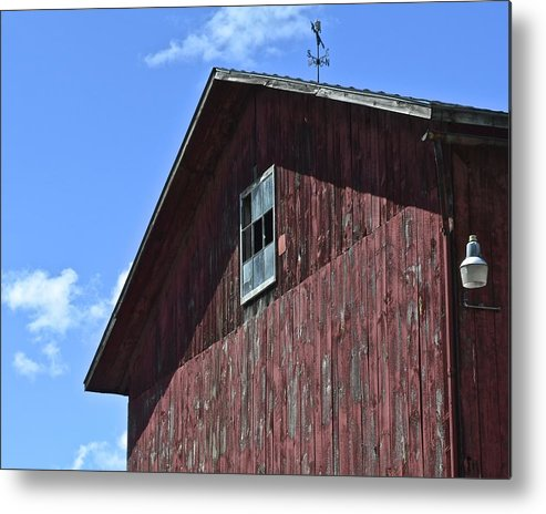 Red Metal Print featuring the photograph Red White And Blue by Frozen in Time Fine Art Photography