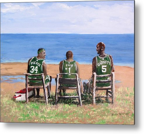 Boston Metal Print featuring the painting Reminiscing The Good Old Days by Jack Skinner