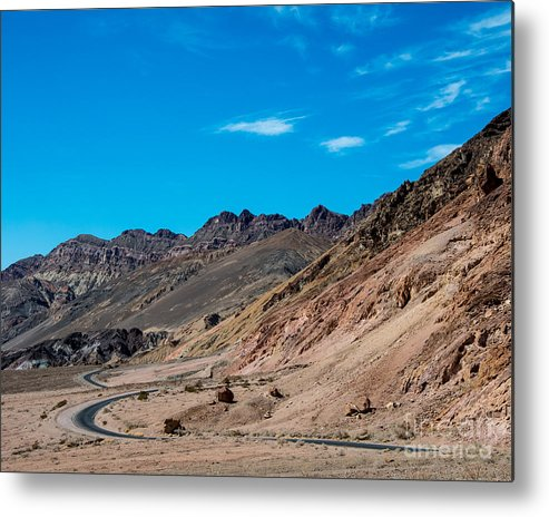 Mountains Metal Print featuring the photograph Road Through Badwater by Stephen Whalen