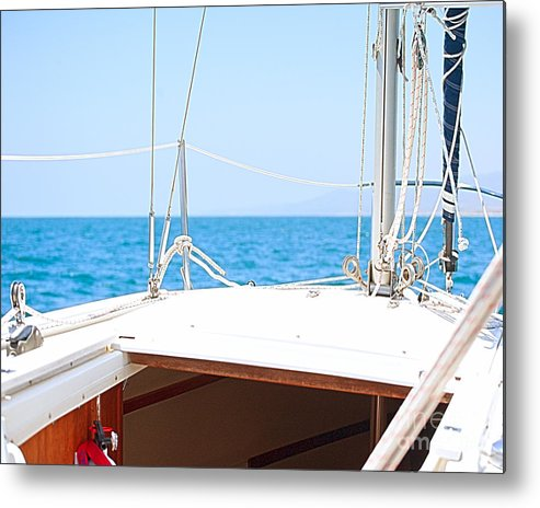 Sailboat Metal Print featuring the photograph Sailing On A Fine Sunny Day by Artist and Photographer Laura Wrede