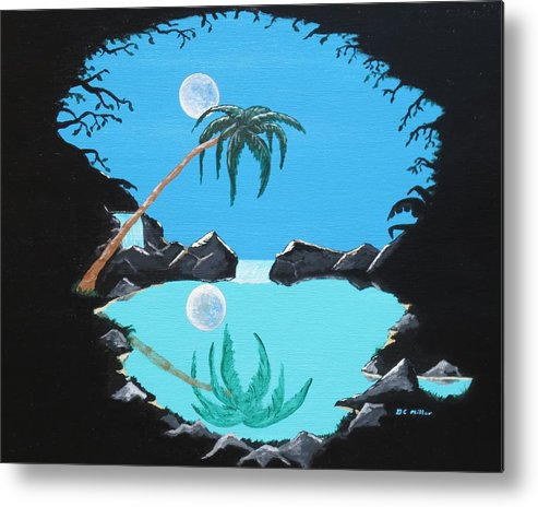 Shadow Metal Print featuring the painting Shadow Lagoon by Don Miller