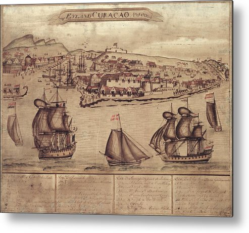 Siege Of Curacao Metal Print featuring the photograph Siege Of Curacao by Library Of Congress, Geography And Map Division