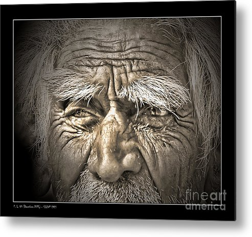 Elderly Metal Print featuring the photograph Silent Eyes by Pedro L Gili