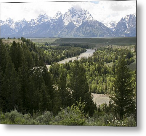 Grand Tetons Metal Print featuring the photograph Snake River by Eric Cross