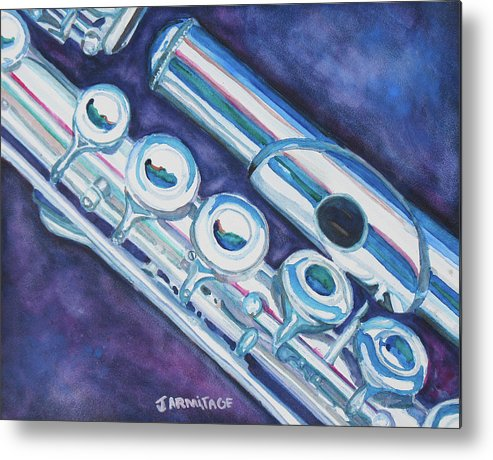 Flute Metal Print featuring the painting Some Assembly Required by Jenny Armitage