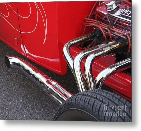 Car Metal Print featuring the photograph Souped Up by Ann Horn