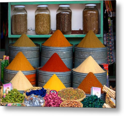 Morocco Metal Print featuring the photograph Spice Up Your Life by A Rey