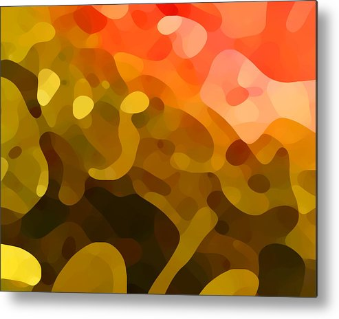 Abstract Metal Print featuring the painting Spring Day by Amy Vangsgard