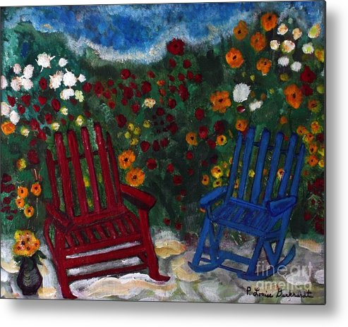 Spring Scenery Metal Print featuring the painting Spring Memories by Louise Burkhardt